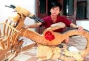 9X Quảng Nam chế xe đạp điện từ gỗ ép